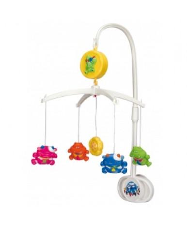 Каруселька Canpol Коровы и гиппопотамы с пластиковыми игрушками