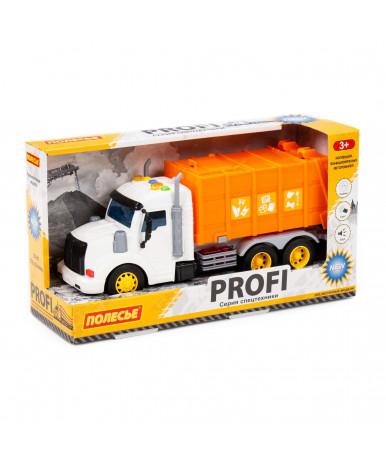 Автомобиль - коммунальный инерционный Полесье Профи со светом и звуком оранжевый