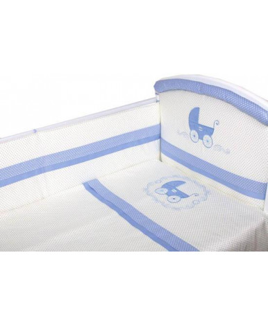 Комплект в кроватку Migliori Колясочка голубой 7пр
