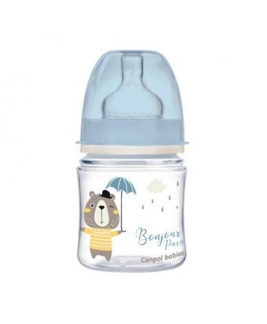 Бутылочка Canpol для кормления EasyStart голубая 120мл