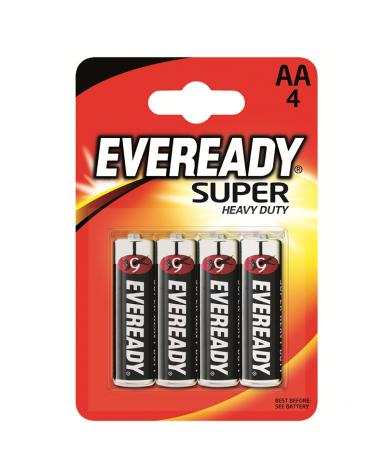 Батарейки Eveready угольно-цинковые HD АА-R6, 4шт