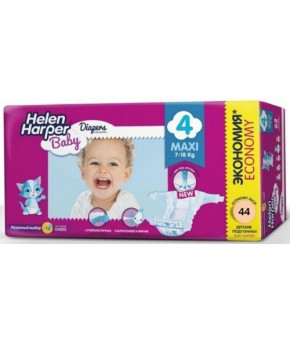 Подгузники Helen Harper Baby 4 (7-18кг) 44шт