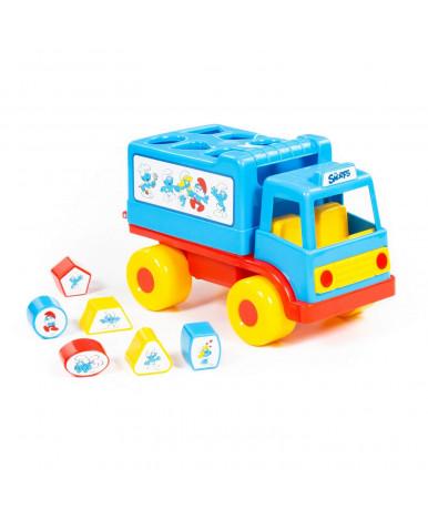 Автомобиль грузовичок Полесье Логический Смурфики с 6 кубиками №1