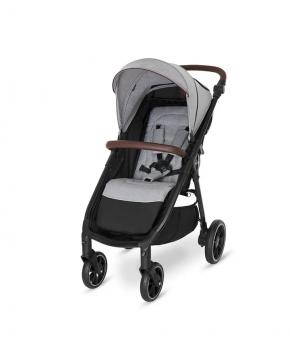 Прогулочная коляска Baby Design LOOK 2021 107 silver gray