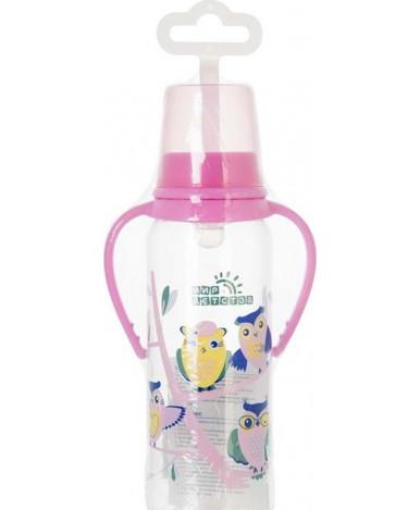 Бутылочка Мир детства с ручками совы 125мл