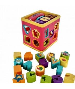 Развивающая игрушка-сортер Кубик Red box электронный