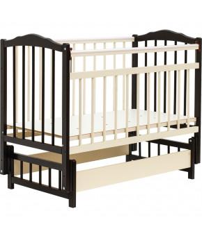"""Кровать детская """"Bambini"""" Classic 11, темный орех/слоновая кость"""