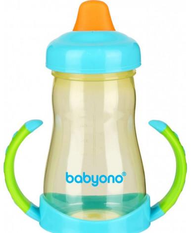 Поильник BabyOno непроливающий с мягким носиком-большая 220мл, 6+