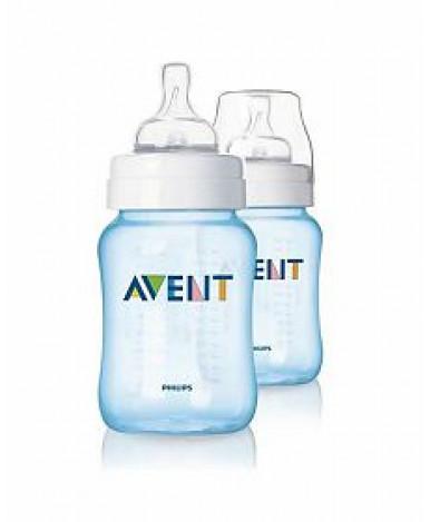 Бутылочка Avent Classic, голубая, 260мл (цена за штуку)