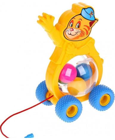 Игрушка-каталка Полесье на шнурке Бимбосфера - Котёнок