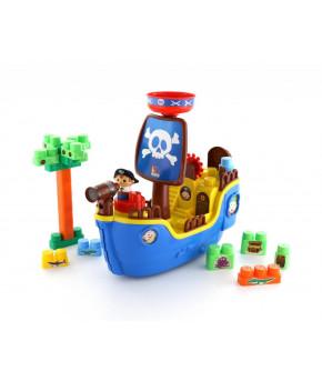 """Набор """"Polesie"""" Пиратский корабль + конструктор (30 элементов)"""