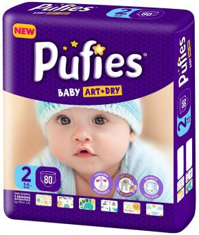 Подгузники Pufies Baby Art&Dry 2 (3-6 кг) 80 шт