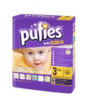 Подгузники Pufies Baby Art&Dry 3 (4-9 кг) 20 шт