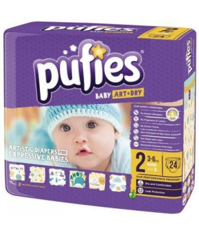 Подгузники Pufies Baby Art&Dry 2 (3-6 кг) 24 шт