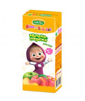 Нектар Маленькое счастье яблоко-персик 200мл