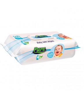 Салфетки влажные Pure для детей Мягкое прикосновение 120шт