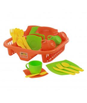 Набор детской посуды Алиса с сушилкой на 4 персоны