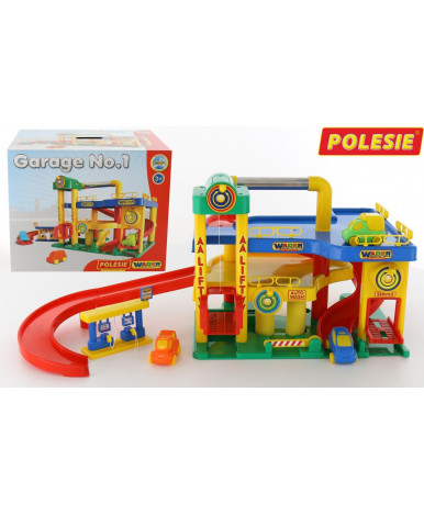 Гараж Polesie №1 с автомобилями (в коробке)