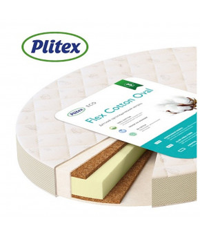 Матрас Plitex Flex Cotton Oval 1250х650х100мм