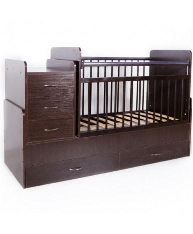 Кровать трансформер Bambini М 01, темный орех
