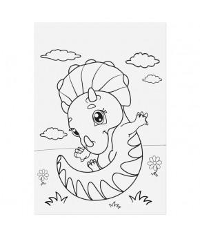 Наклейки Динозаврики с раскраской на обороте 11 х 16 см