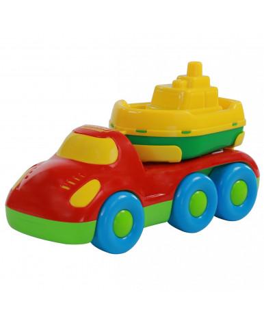 """""""Дружок"""", автомобиль для перевозки кораблика + кораблик """"Буксир"""""""