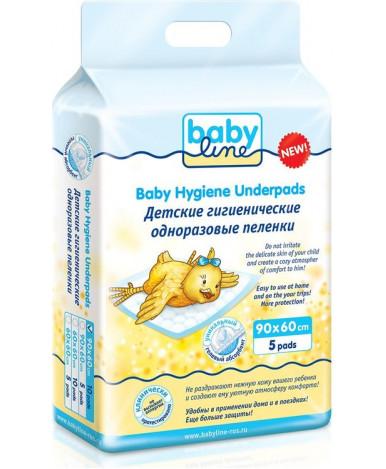 Пеленки Baby line гигиенические одноразовые 60х90 см 5шт