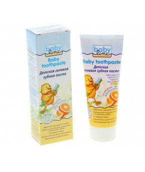 Зубная паста Baby Line со вкусом апельсина гелевая 75мл