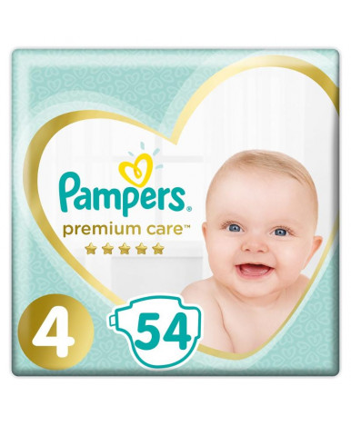 Подгузники Pampers Premium Care 4 (9-14 кг) 54шт