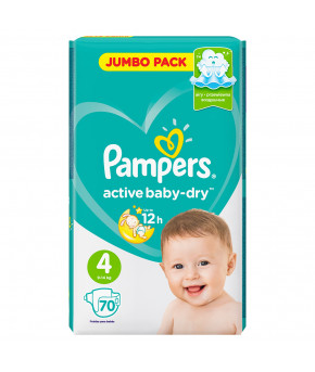 Подгузники Pampers Active Baby 4 (9-14кг) 70шт