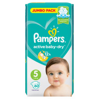 Подгузники Pampers Active Baby 5 (11-16кг) 60шт