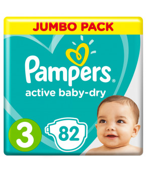 Подгузники Pampers Active Baby 3 (6-10кг) 82шт