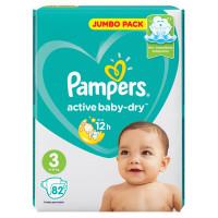 Подгузники Pampers Active Baby 3 (6-10кг) 82шт