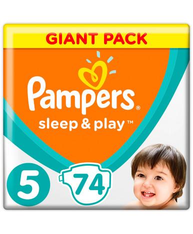 Подгузники Pampers Sleep&Play 5 (11-16кг) 74шт