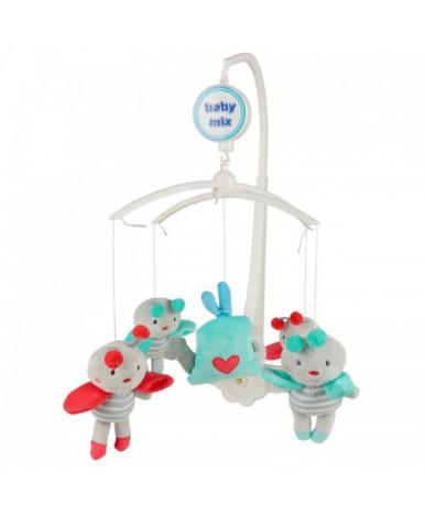 Каруселька BabyMix с плюшевыми игрушками, Полосатые пчёлки