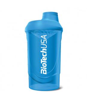 Шейкер синий 600мл. Biotech USA Wave
