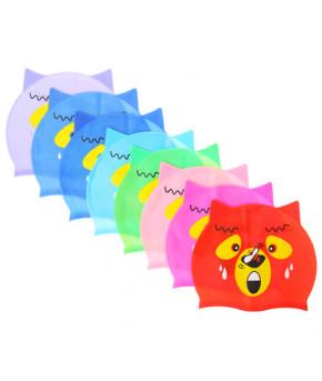 Шапочка для плавания собачка, детская, силикон, цвета микс