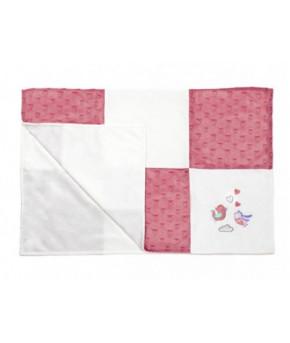 Одеяло BabyOno 100х75 см розовое