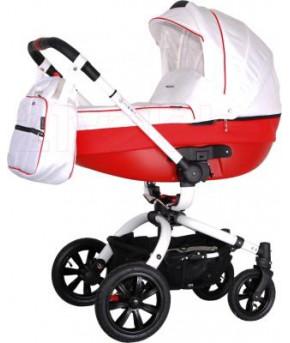 Детская коляска 2 в 1 Coletto Messina 2в1 бело-красный