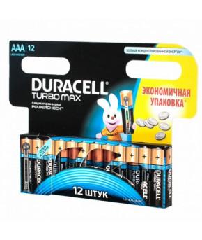 Батарейки Duracell Turbo, Max AAA-1.5V LR03 (12шт)