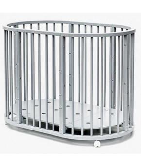 Кровать трансформер 7в1 Bambini М 14, колесо, серый