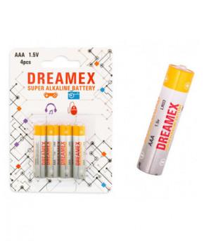 Батарейки Dreamex ААА Super Alckaline 1.5V 4шт