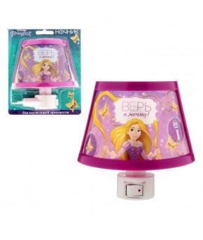 Ночник в розетку Принцессы: Рапунцель Верь в мечту, 10х11см
