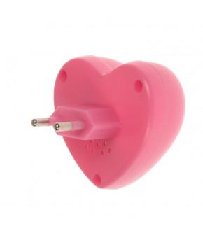 """Ночник """"Сердце"""" 0,1W LED от 220V, 4x6x6,5см"""