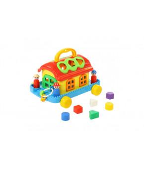 Развивающая игрушка-сертер Полесье Домик сказочный на колёсиках (в коробке)