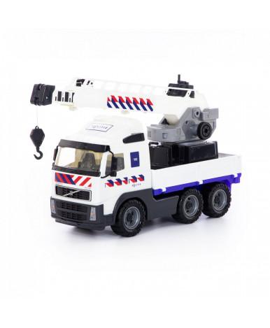 Автомобиль-кран Polesie Volvo с поворотной платформой, полицейский (NL)