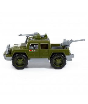 Автомобиль Полесье Защитник с 2-мя пулемётами военный пикап РБ