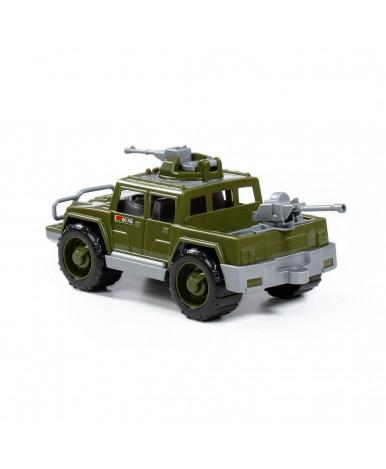 Автомобиль Полесье Защитник с 2-мя пулемётами военный пикап