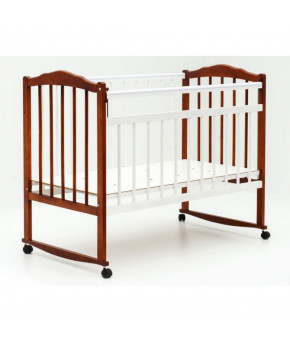 Кровать детская Bambini Classic 09, светлый орех/белый