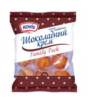 Мини маффины KOVIS с кремом шоколадным 470г